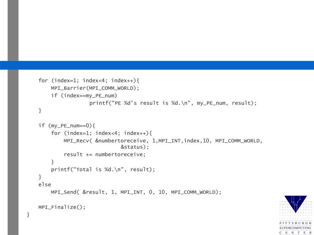 for (index=1; index<4; index++){