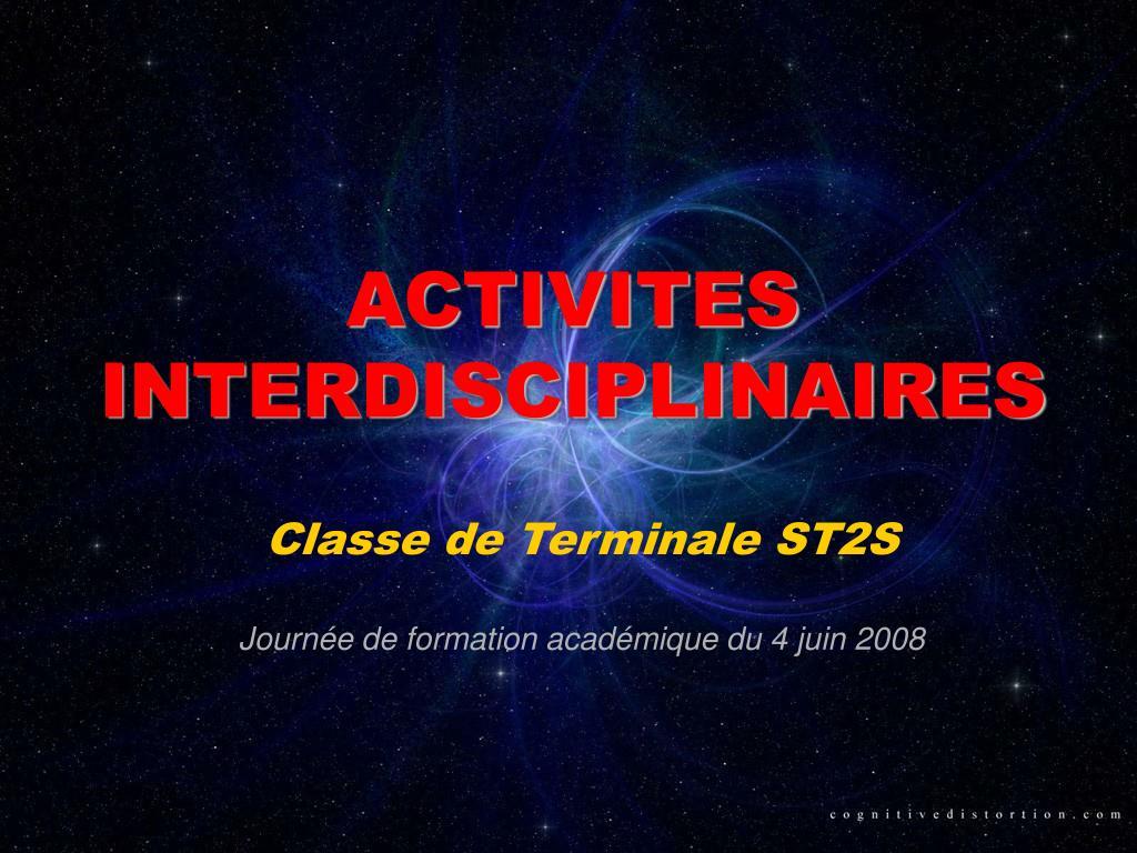 activites interdisciplinaires l.