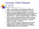 coronary heart disease 1 of 3