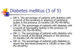 diabetes mellitus 3 of 5