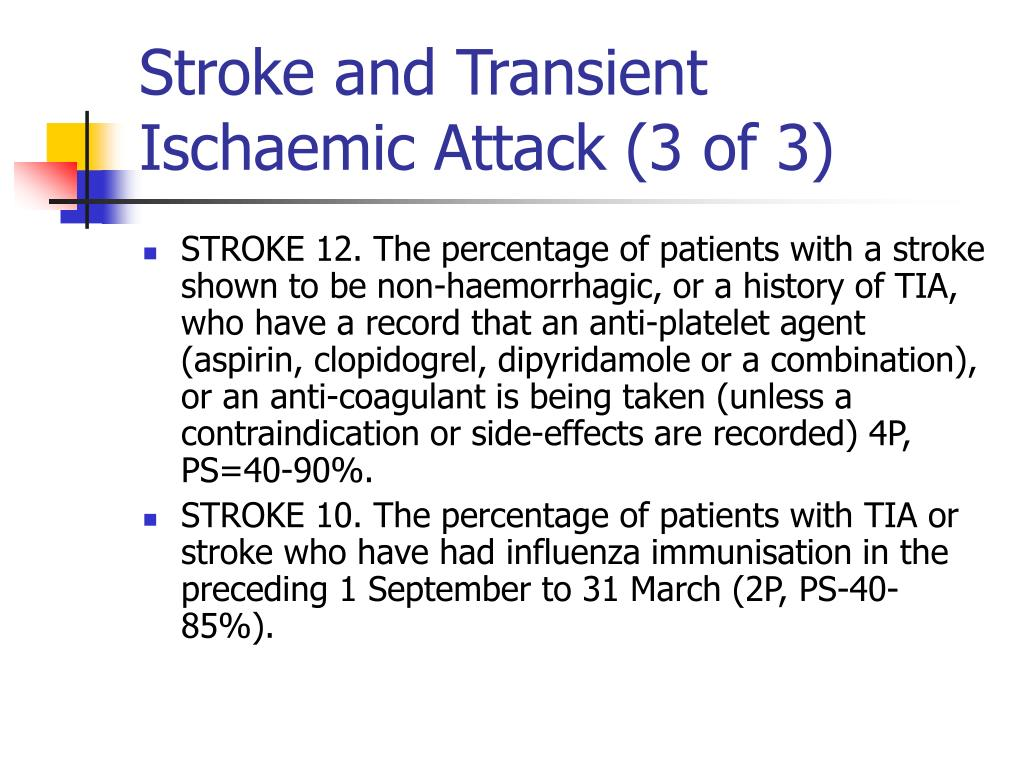 Stroke and Transient Ischaemic Attack (3 of 3)