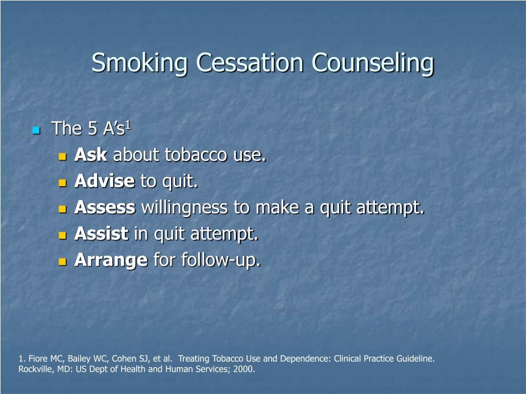 Smoking Cessation Counseling
