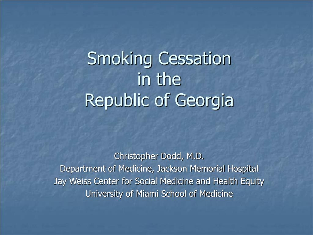 smoking cessation in the republic of georgia l.