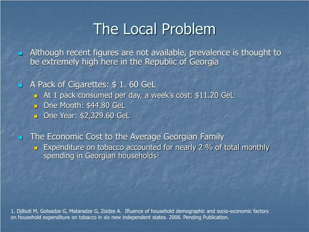 The Local Problem