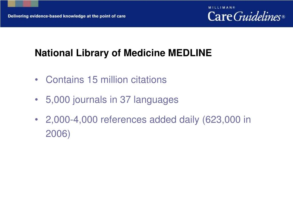 National Library of Medicine MEDLINE