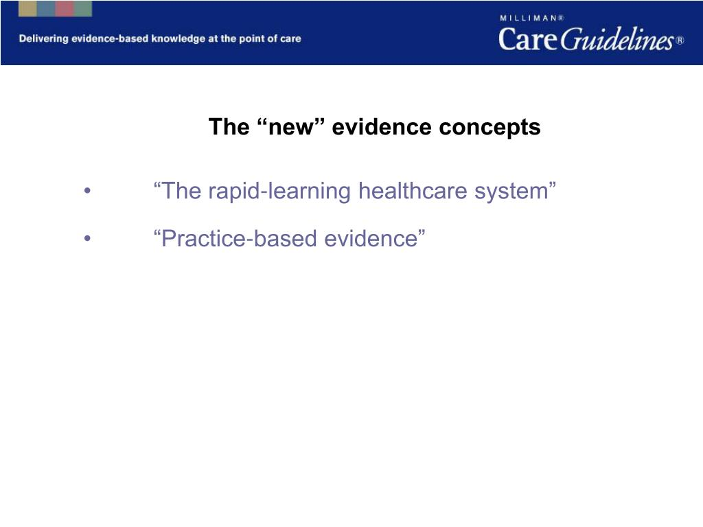 "The ""new"" evidence concepts"