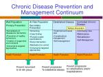 chronic disease prevention and management continuum
