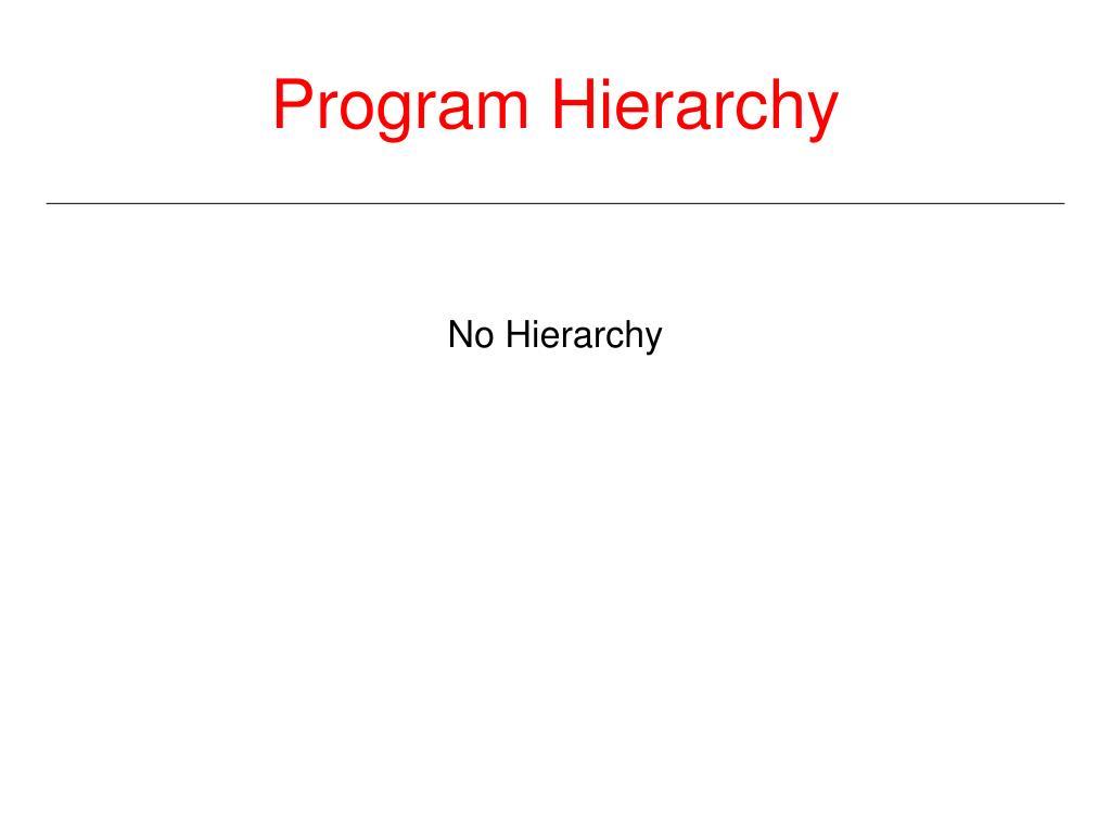 Program Hierarchy