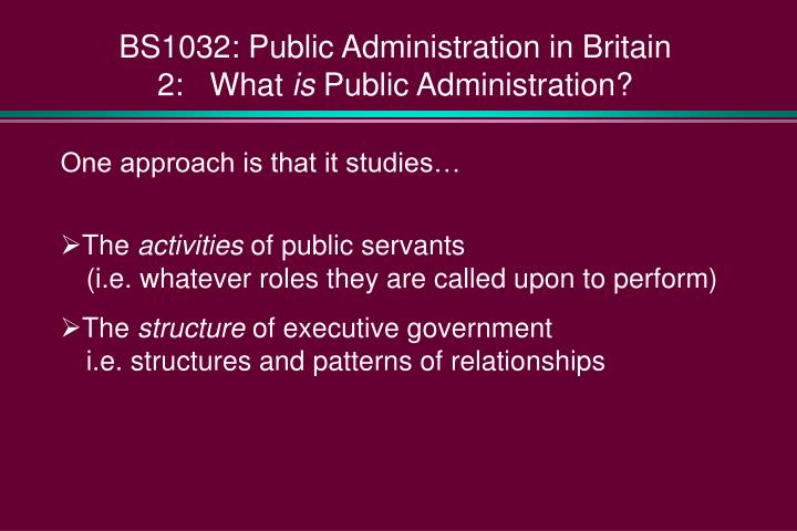 relationship of public administration and public