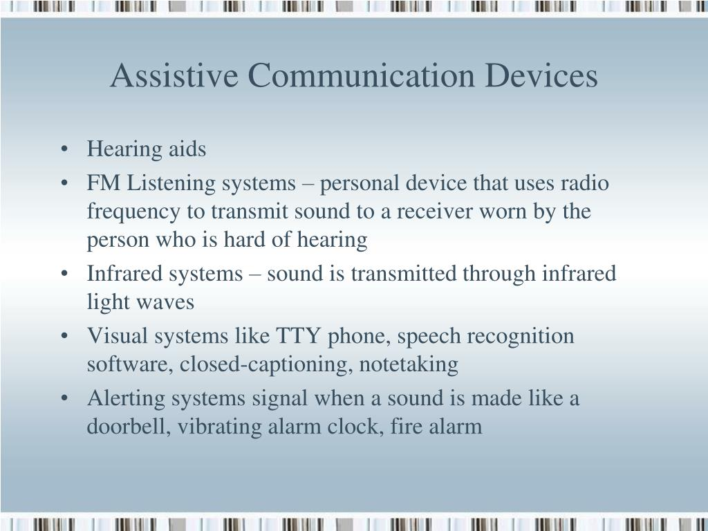 Assistive Communication Devices