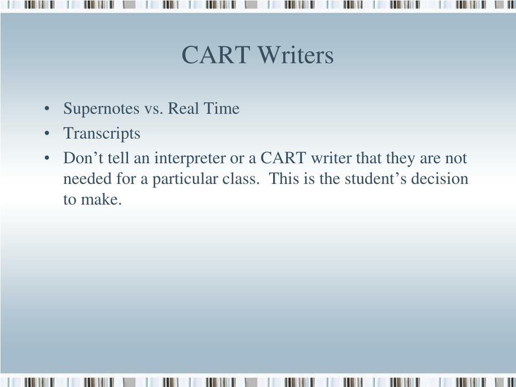 CART Writers