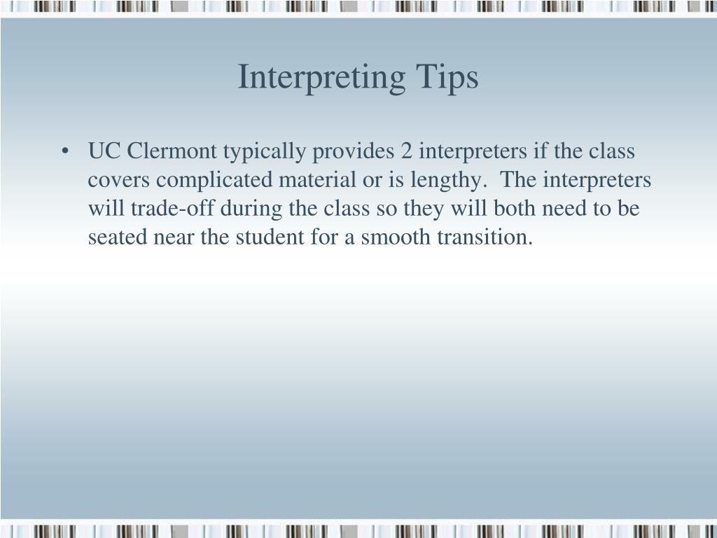 Interpreting Tips