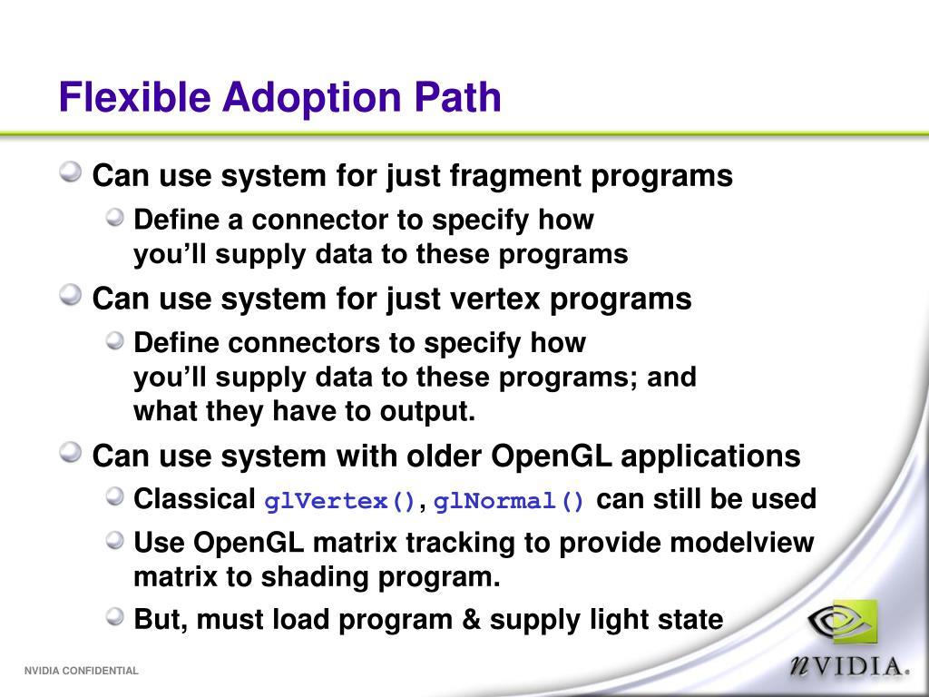 Flexible Adoption Path