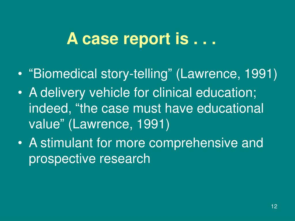 """""""Biomedical story-telling"""" (Lawrence, 1991)"""