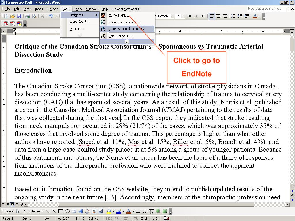 Click to go to EndNote