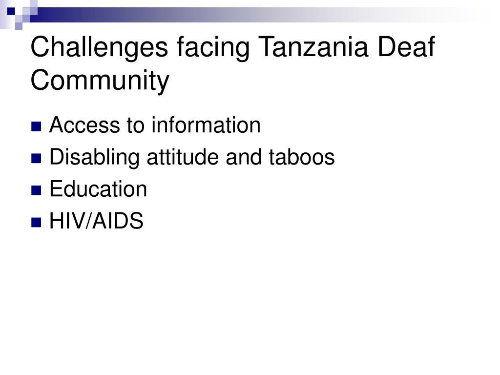 Challenges facing Tanzania Deaf Community