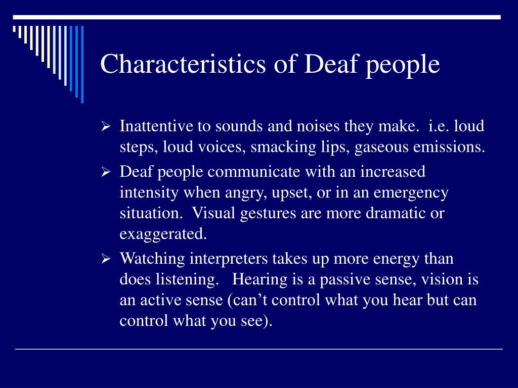 Characteristics of Deaf people