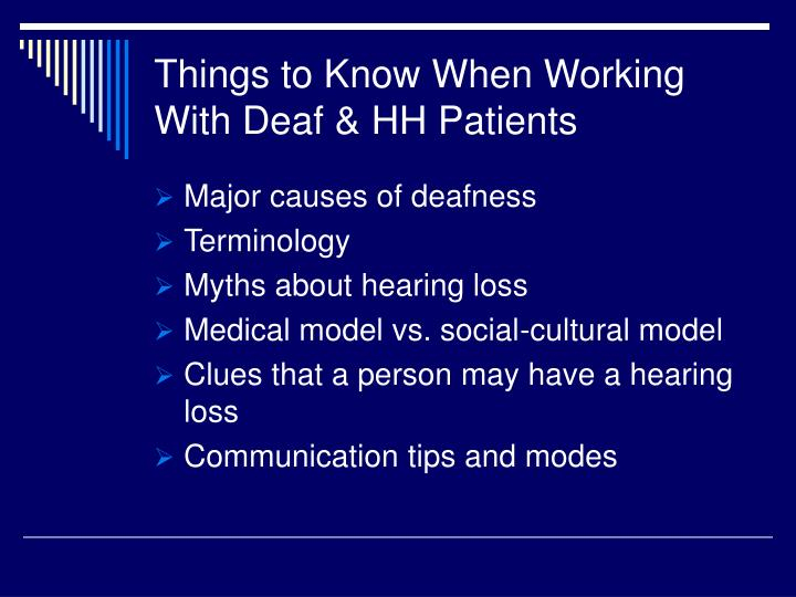 Things to know when working with deaf hh patients