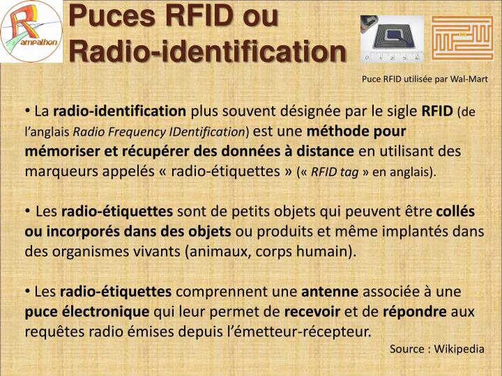 Puces rfid ou radio identification