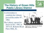 the history of green hills public library district