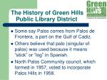 the history of green hills public library district10