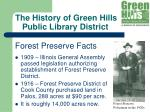 the history of green hills public library district12