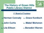 the history of green hills public library district3