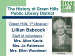 the history of green hills public library district4