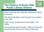 the history of green hills public library district8