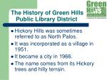 the history of green hills public library district9