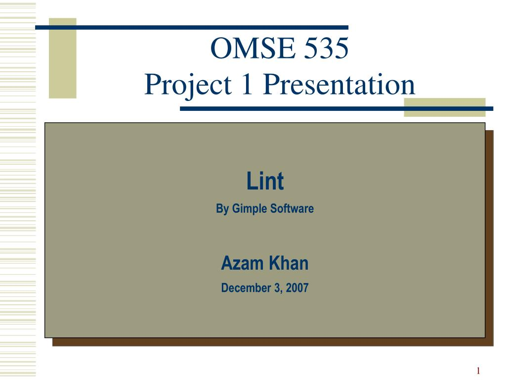 omse 535 project 1 presentation l.