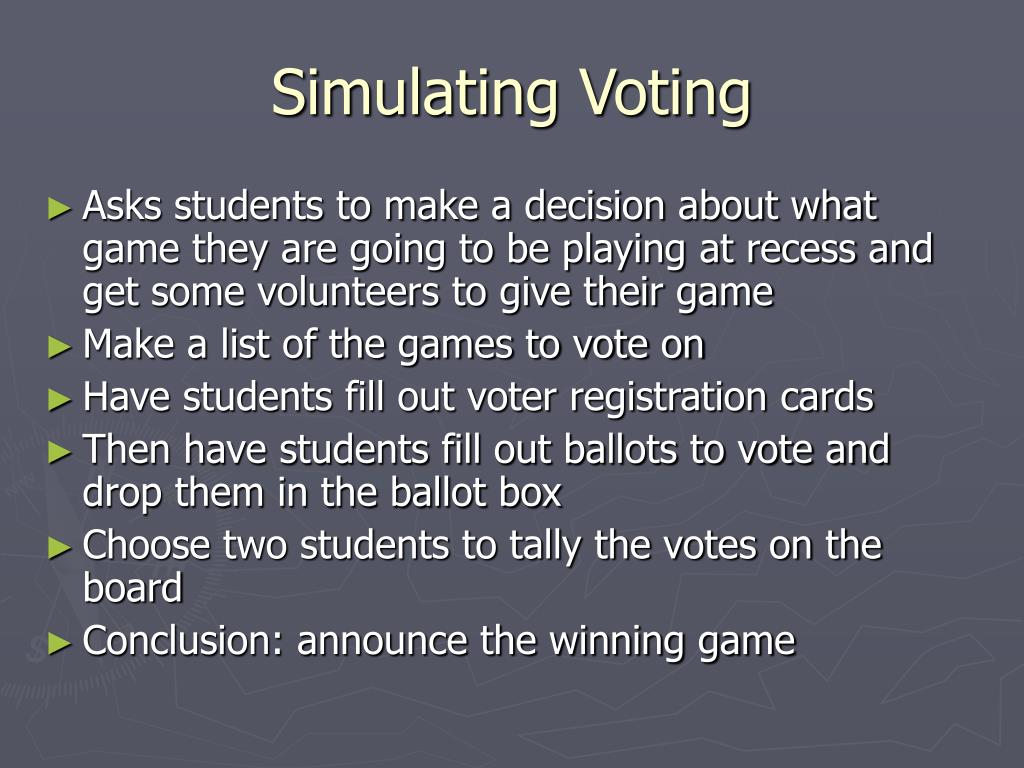 Simulating Voting