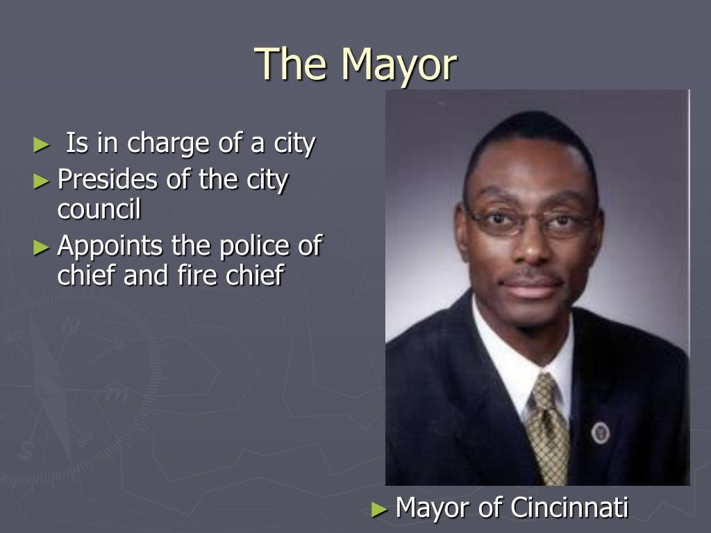 Is in charge of a city