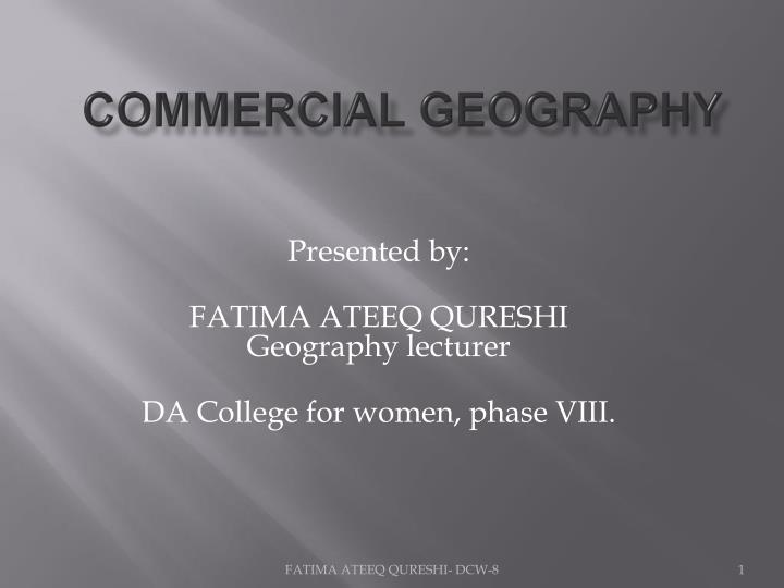 commercial geography n.