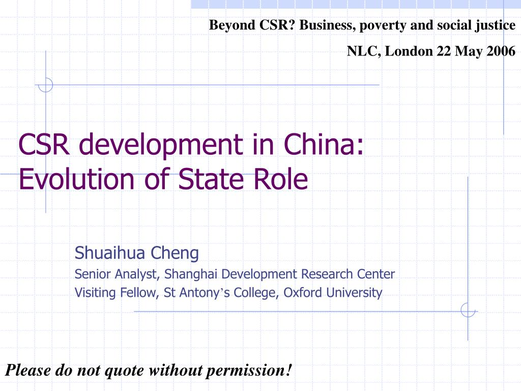 Beyond CSR? Business, poverty and social justice