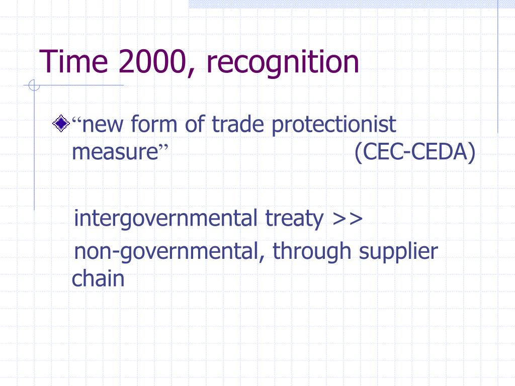 Time 2000, recognition
