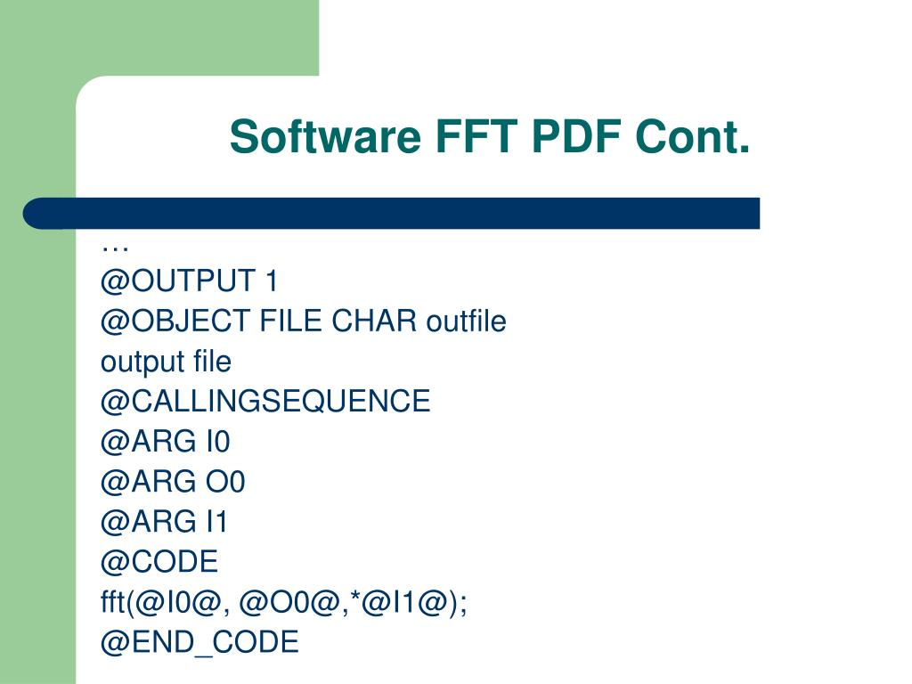 Software FFT PDF Cont.