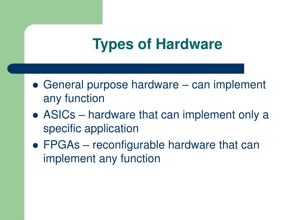 Types of Hardware