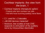 cochlear implants the view from the brain 1