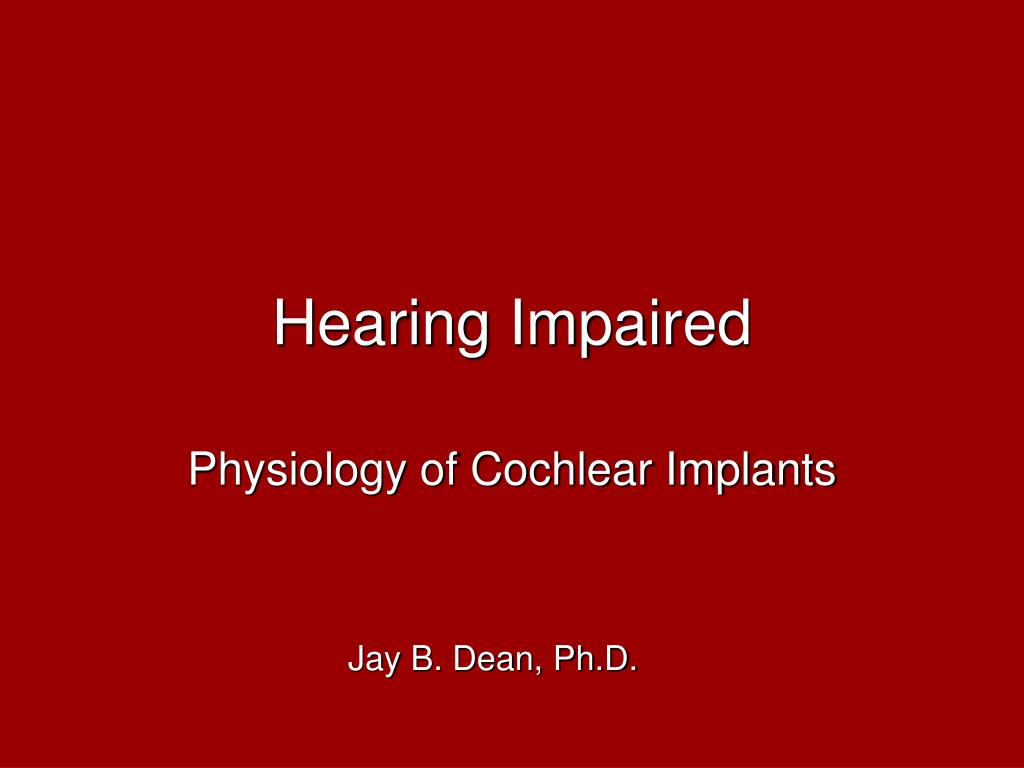 hearing impaired l.