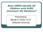 does unhs identify all children with gjb2 connexin 26 deafness
