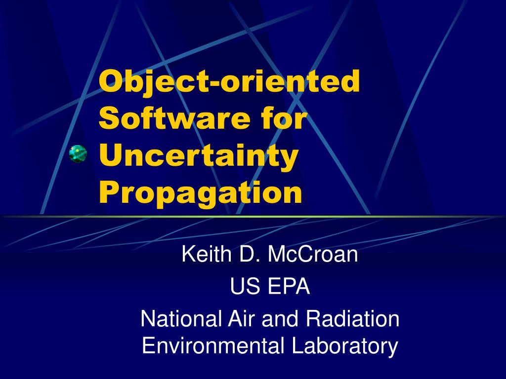 object oriented software for uncertainty propagation l.