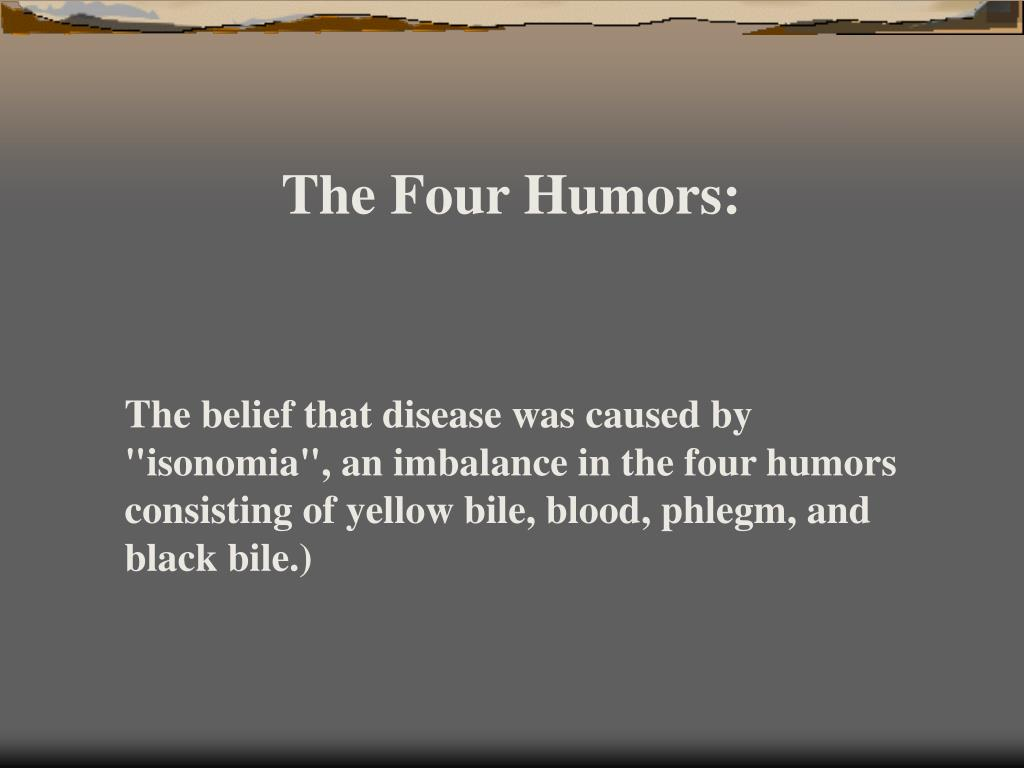 The Four Humors: