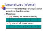 temporal logic informal