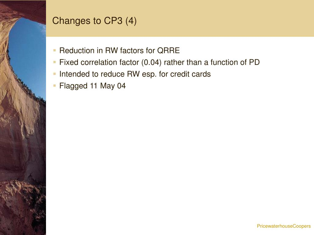 Changes to CP3 (4)