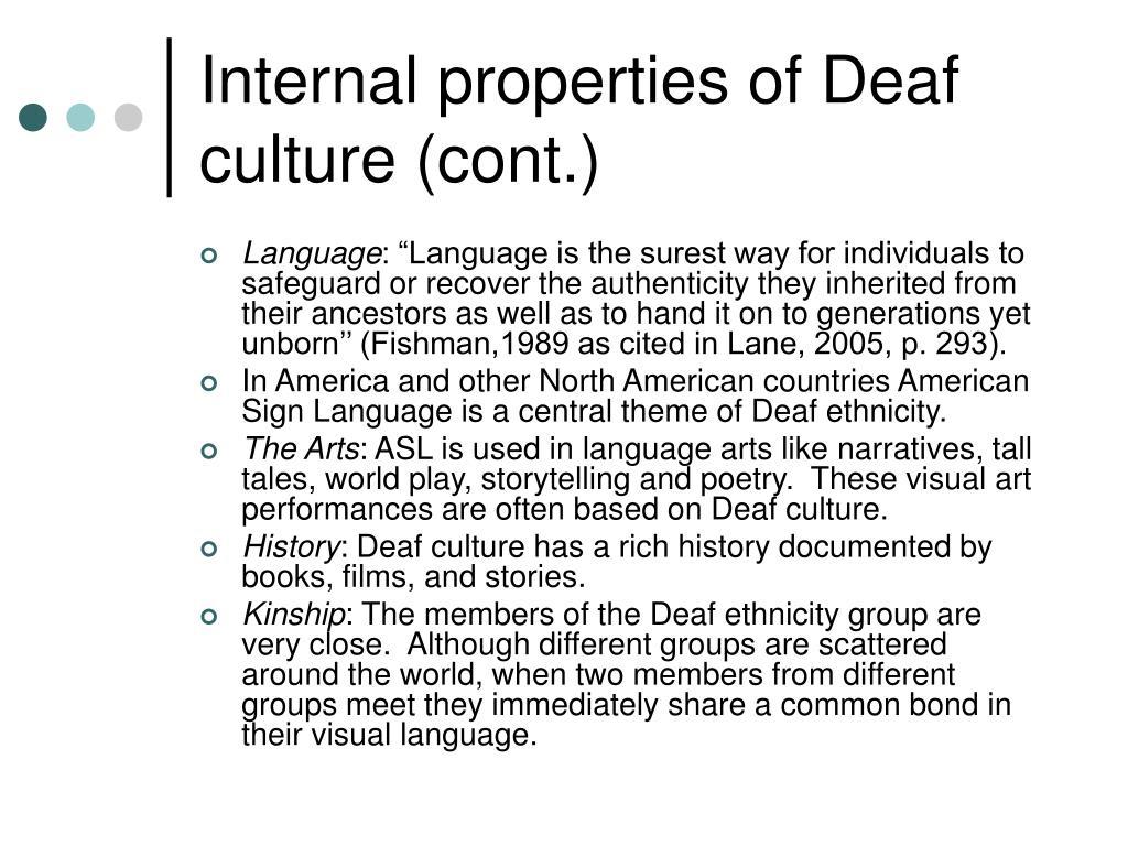 deaf culture reaction paper A damaged culture (reaction paper) - download as word doc (doc / docx), pdf file (pdf), text file (txt) or read online.