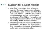 support for a deaf mentor