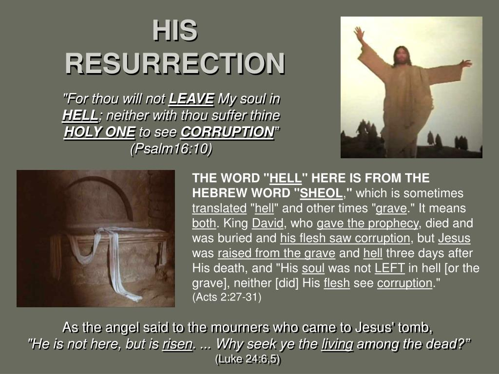 HIS RESURRECTION
