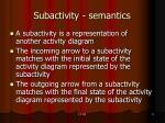 subactivity semantics