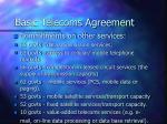 basic telecoms agreement61